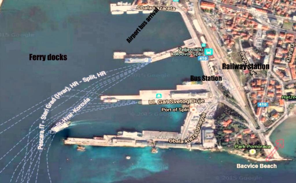 Split Croatia map
