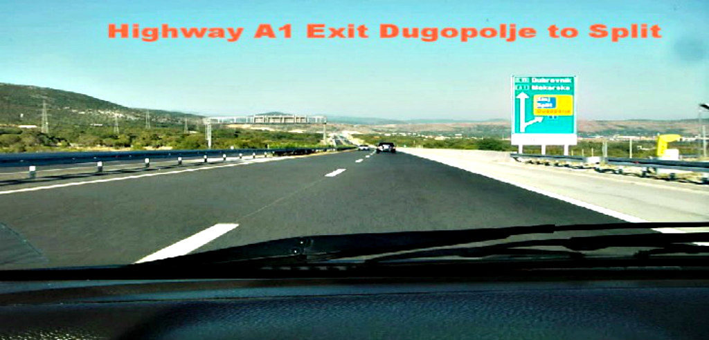 Highway A1 Dugopolje Exit to Split